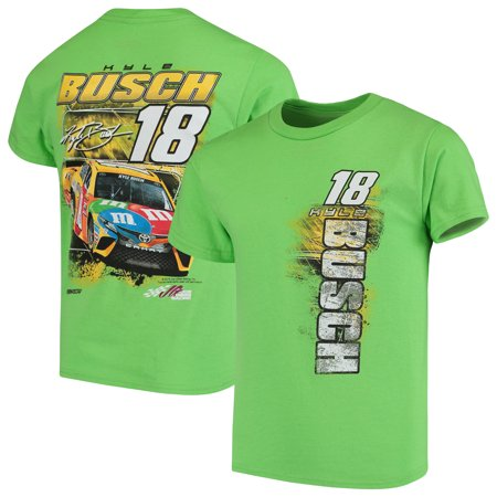 NASCAR Checkered Flag Youth Kyle Busch T-Shirt - Green