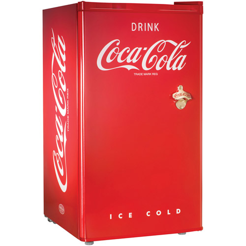 Nostalgia Electrics Coca-Cola Series Refrigerator and Freezer, Red
