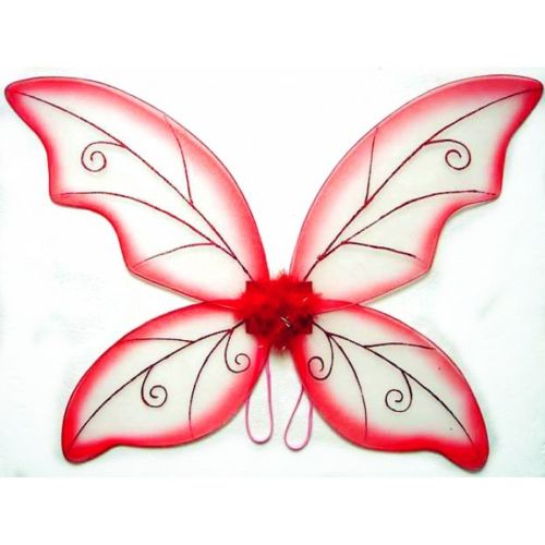 Red Adult Fantasy Butterfly Fairy Wings Tinkerbell Womens Costume Accessory