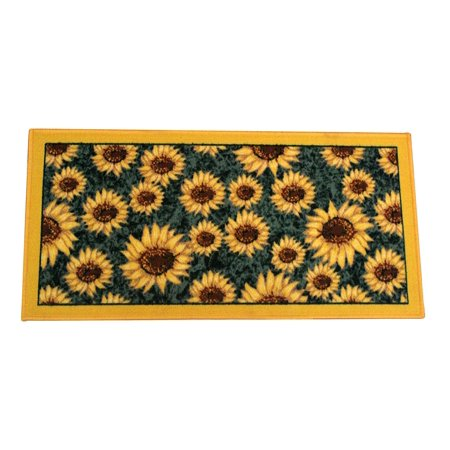"Kashi Home Rectangle Mat with Latex Back Sunflower Series Kitchen Rug, 20"" by 40"""