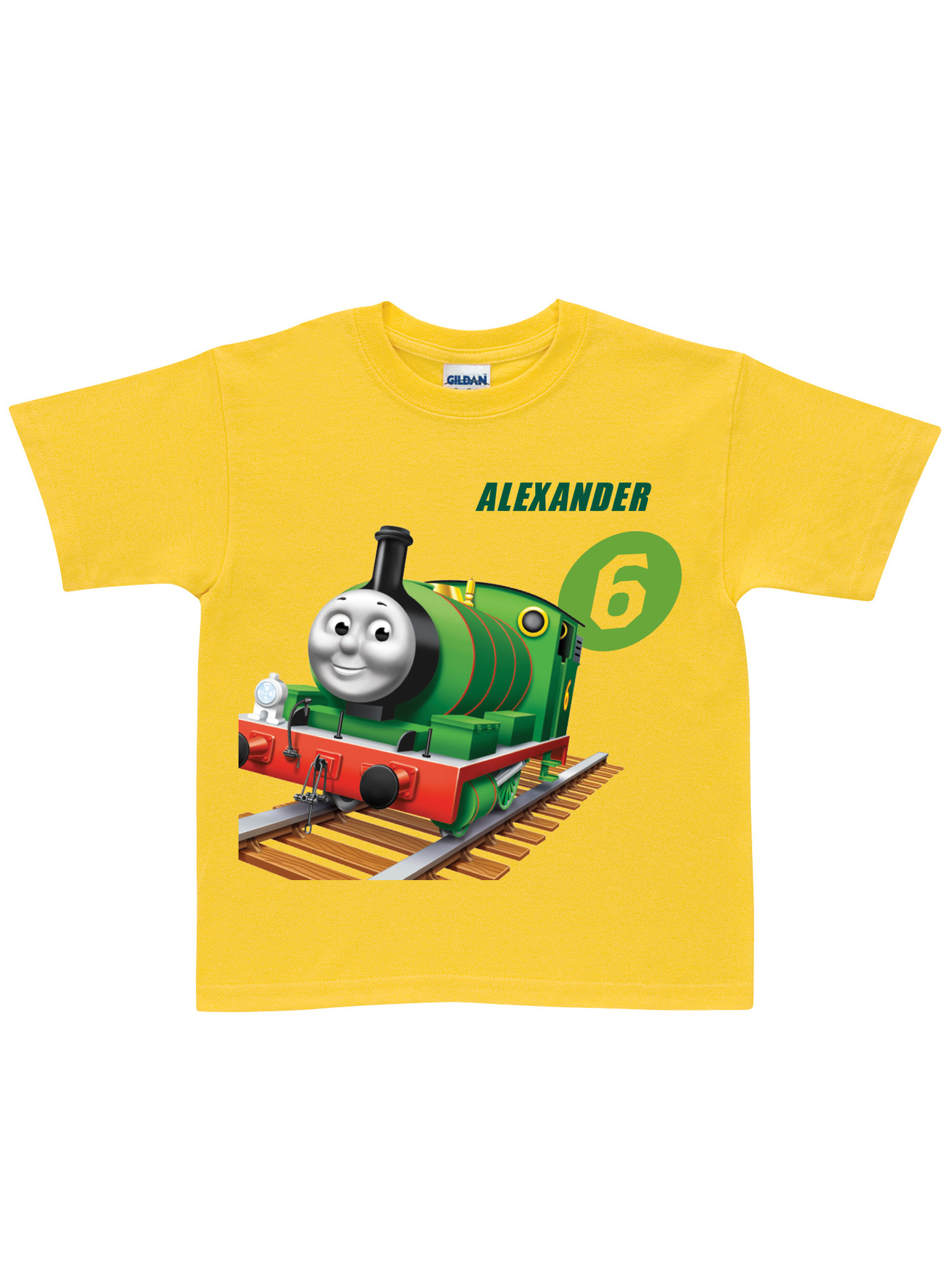 Personalized Thomas & Friends Percy No. 6 Toddler Yellow T-Shirt