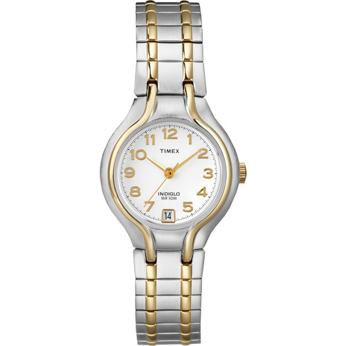 Timex Women's Sport Chic Watch, Two-Tone Stainless-Steel Expansion Band