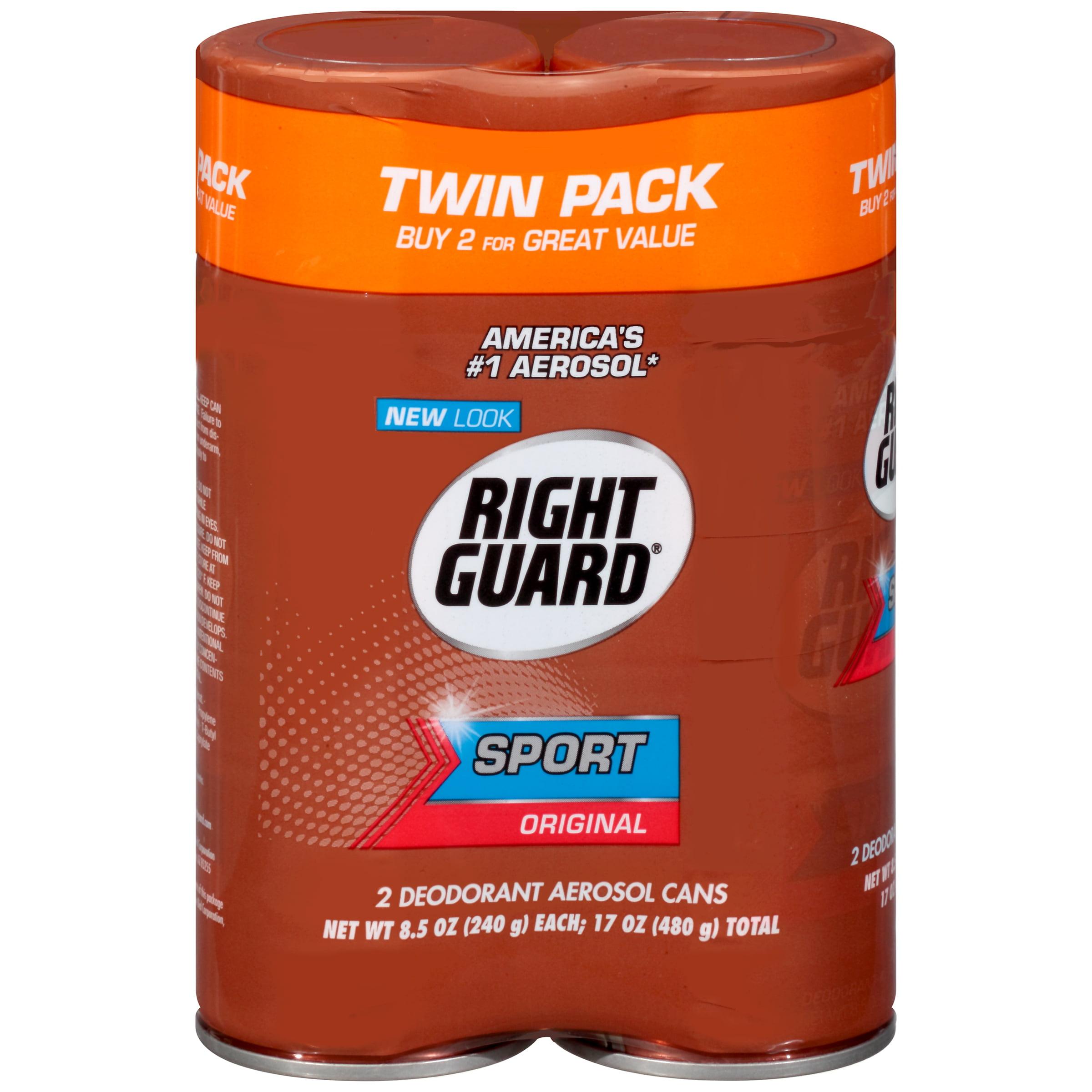 Right Guard Sport Deodorant Aerosol Spray, Original, 8.5 Ounce (Pack of 2)