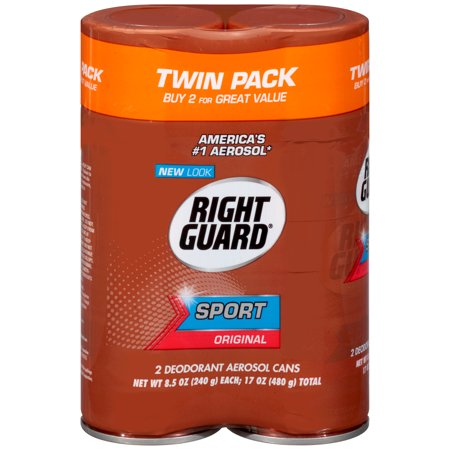 (4 count) Right Guard Sport Deodorant Aerosol Spray, Original, 8.5 Ounce, 2 twin packs