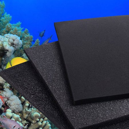 Moaere 39''X39''X2'' Aquarium Bio Sponge Filter Shrimp Nano Fish Tank Water Corner