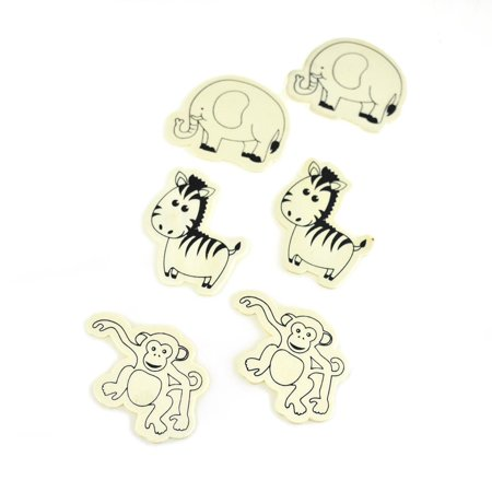 Jungle Themed Cutouts (Jungle Pals Themed Wooden Cut-Outs, Ivory,)