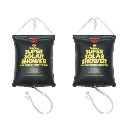 2)  5 Gallon Super Solar Sun Backpacking Camping Outdoor Showers Heats Water