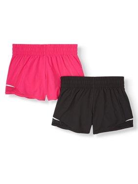 Athletic Works Solid 2-Pack Running Short (Little Girls, Big Girls & Plus)