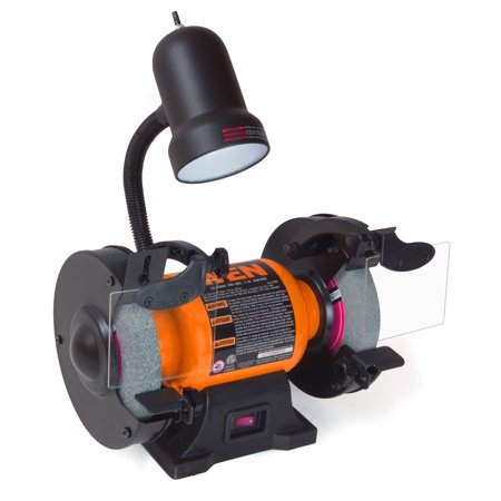 WEN 2.1-Amp 6-Inch Bench Grinder With Flexible Work Light,