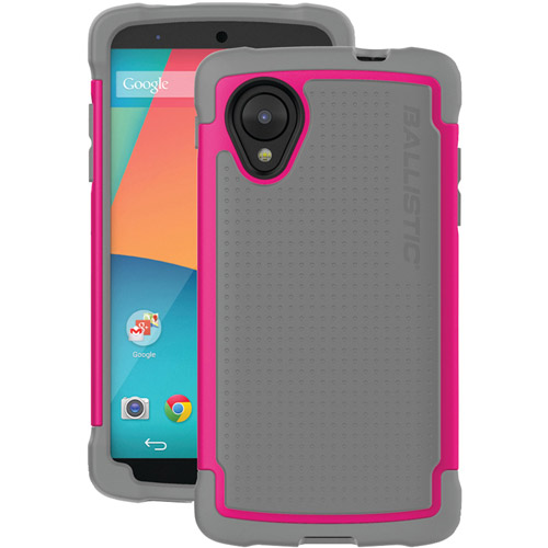 Ballistic TJ1272-A57C Tough Case for LG Nexus 5 aka D820 aka D821 -  Gray/Pink