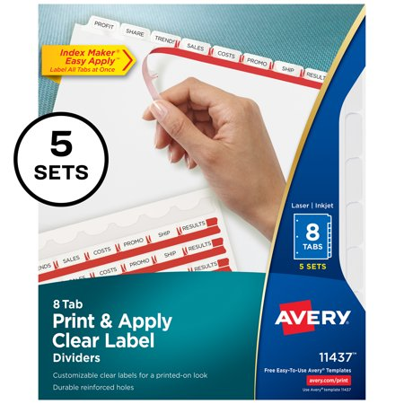 Office depot brand plastic dividers with insertable rounded tabs.