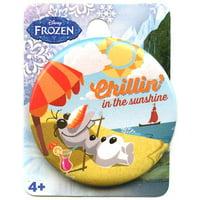 Disney Frozen Olaf Chillin in the Sunshine Button