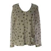 Lunn Women's Fleur Polka Dot Long Sleeve Cardigan 4 (XL) Gravier
