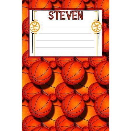 Basketball Life Steven: College Ruled Composition Book Paperback ()