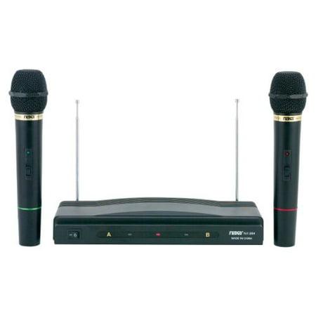 Naxa NAM-984 Dual Handheld Wireless Microphone Starter Kit with Wireless FM Receiver ()