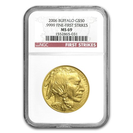 2006 1 oz Gold Buffalo MS-69 NGC (First -