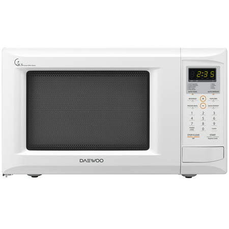 Daewoo 0.9 Cu. Ft. White Countertop Microwave Oven