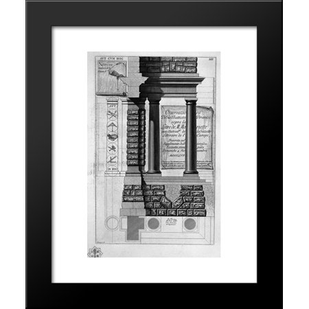 Doric Columns - Title page with the above written on a sign behind Doric columns 20x24 Framed...