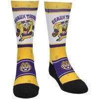 LSU Tigers Rock Em Socks Youth SpongeBob SquarePants Localized Graphics Crew Socks - Gold