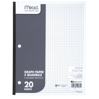 Mead Graph Paper, Quad Ruled, 20 Sheets