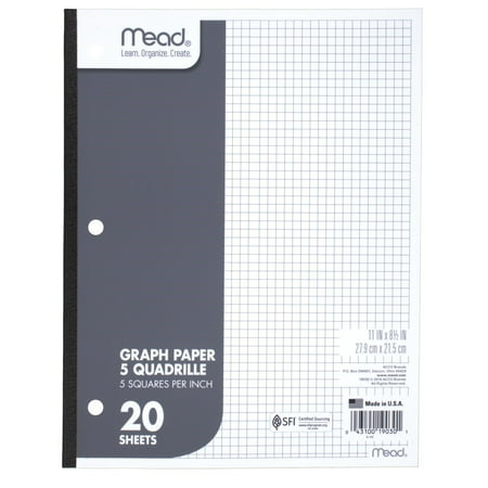 Mead Graph Paper, Quad Ruled, 20 - Pacer Quad
