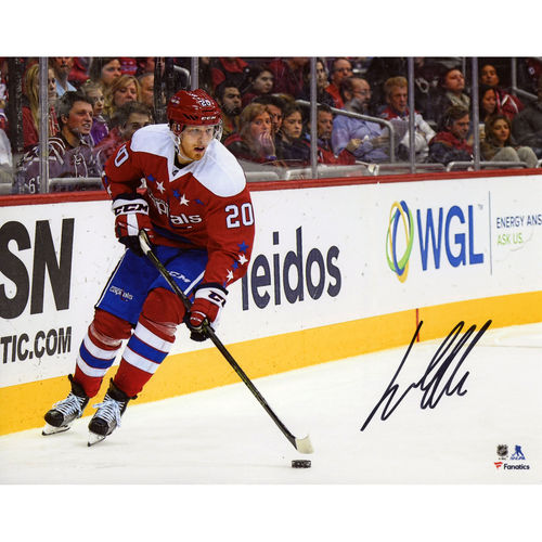 "Lars Eller Washington Capitals Autographed 8"" x 10"" Red Jersey Skating Photograph No Size by Fanatics Authentic"