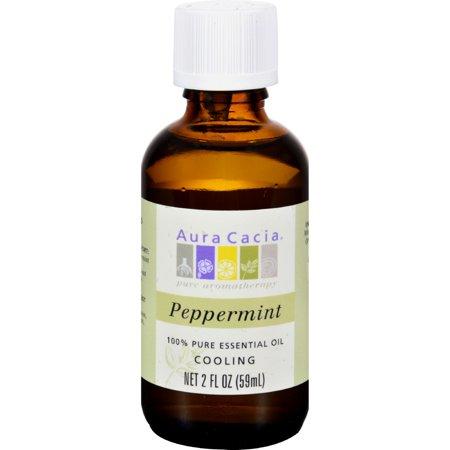 Aura Cacia Peppermint Pure Essential Oil - 2 fl oz