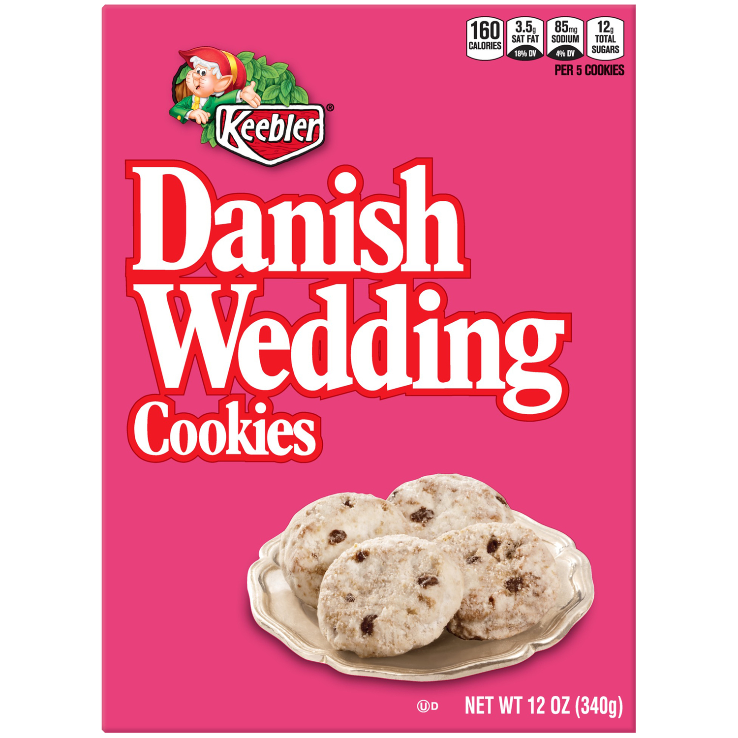 Keebler Danish Wedding Baked Cookies 12 Oz Tray Walmart Com Walmart Com