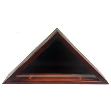 Cherry Wood Triangle Flag Case Box Veteran Memorial Funeral Burial 22.5x3x11