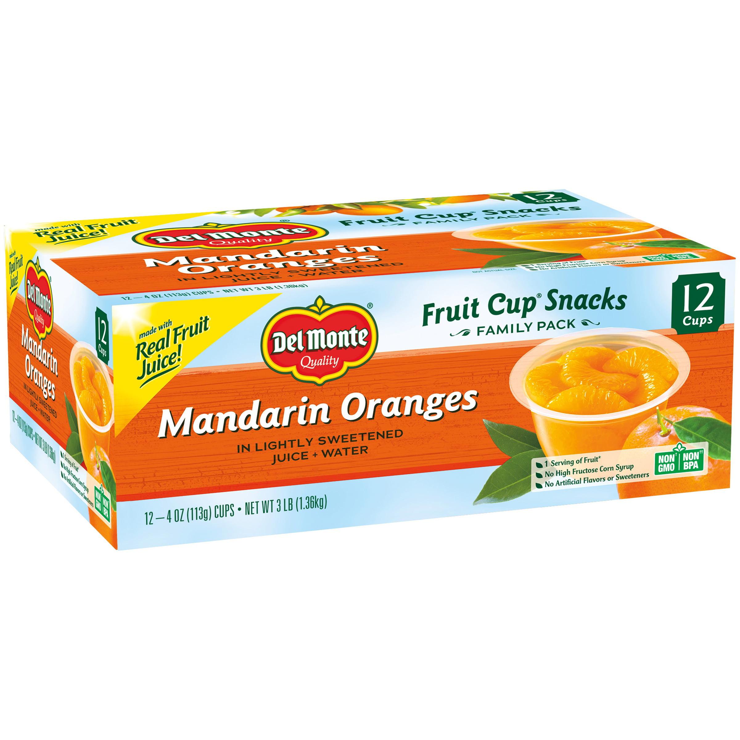 Del Monte Consumer Products Del Monte ® Mandarin Oranges Fruit Cup ® Snacks 12 - 4 oz. Cups