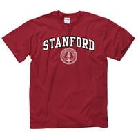 Stanford University Arch & Seal Men's T-Shirt-Cardinal