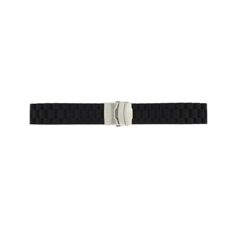 High Quality Watch Band Silicon Rubber Deployment Buckle Adjustable 22mm