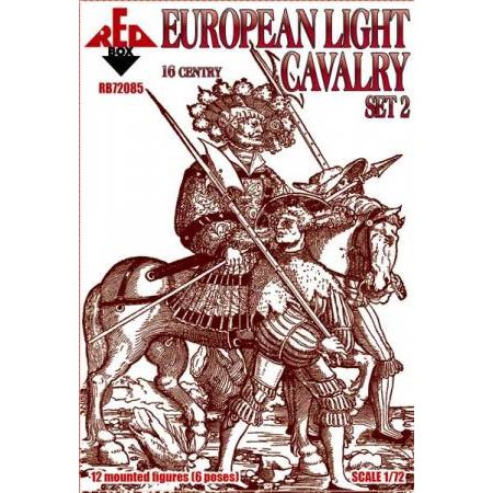 Cavalry Box - 1/72 European Light Cavalry XVI-XVII Century Set #2 (12 Mtd)