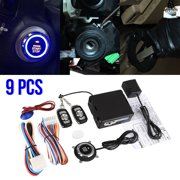 Car Car Alarm Start Security System & Keyless Entry Push Button Remote Kit Fits for Most DC12V Cars