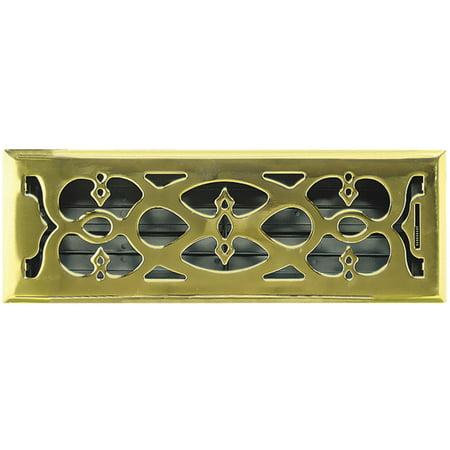 Greystone Home Products 4x12 Pbrass Flr Register AMFRPBV412
