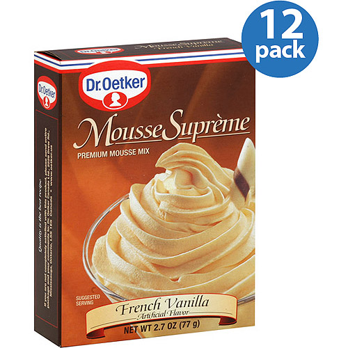 Dr. Oetker French Vanilla Mousse Mix, 2.7 oz, (Pack of 12)