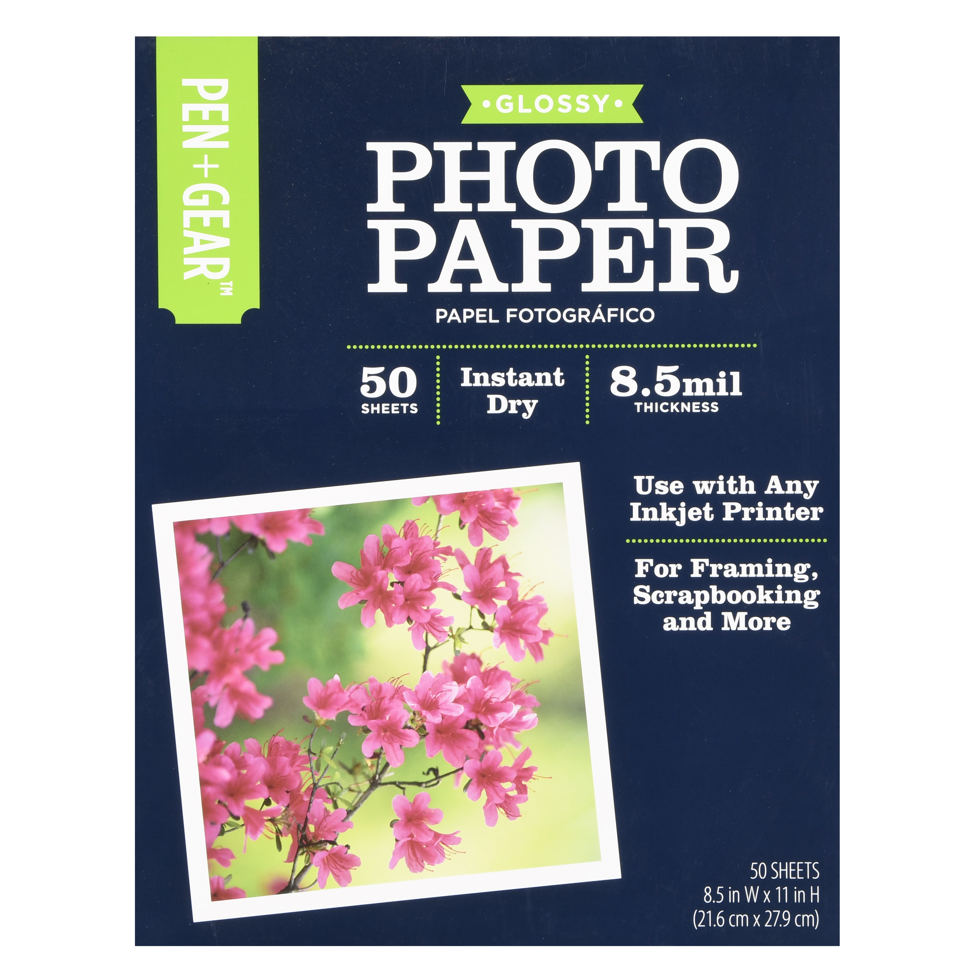 "Pen + Gear Glossy Photo Paper, 8.5"" x 11"", 50 Count"