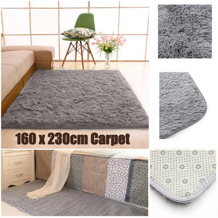Fluffy Rugs Living Room Carpet Anti Skid Shaggy Area Rug