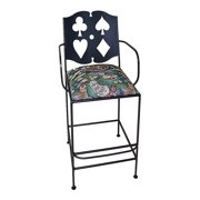 30 in. Large Cards Barstool w Arms
