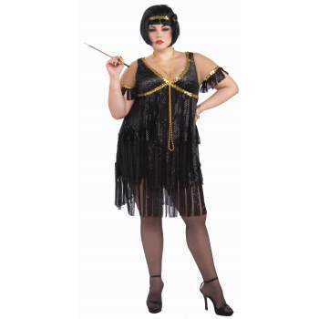 CO-FLAPPER-PLUS - Flapper Girl Costume