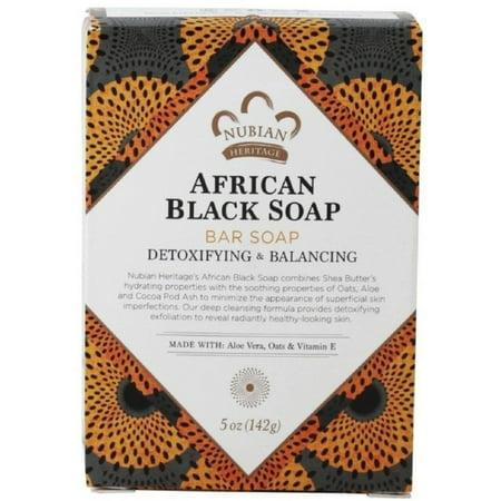 Nubian Heritage  African Black Soap 5 oz (Pack of