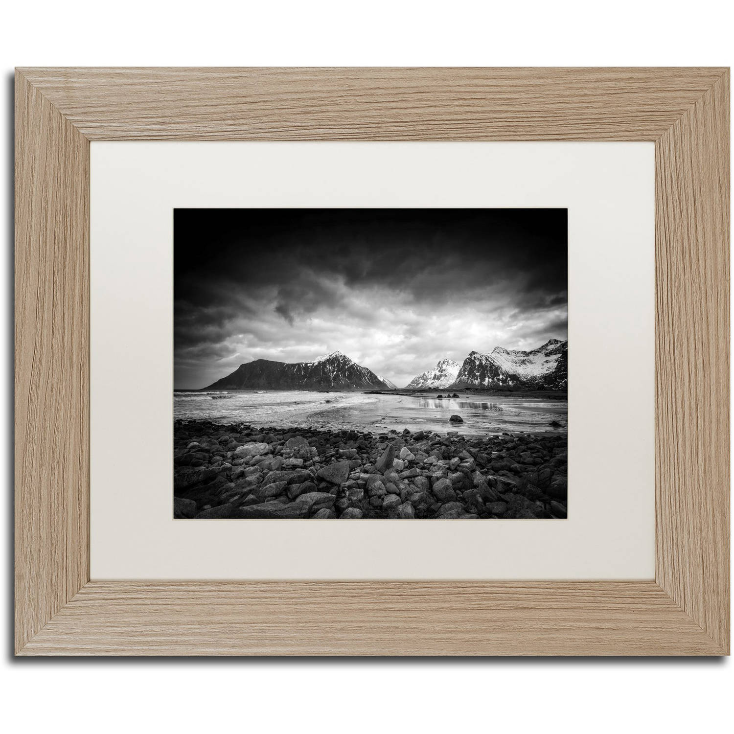 "Trademark Fine Art ""End of the Day"" Canvas Art by Philippe Sainte-Laudy, White Matte, Birch Frame"