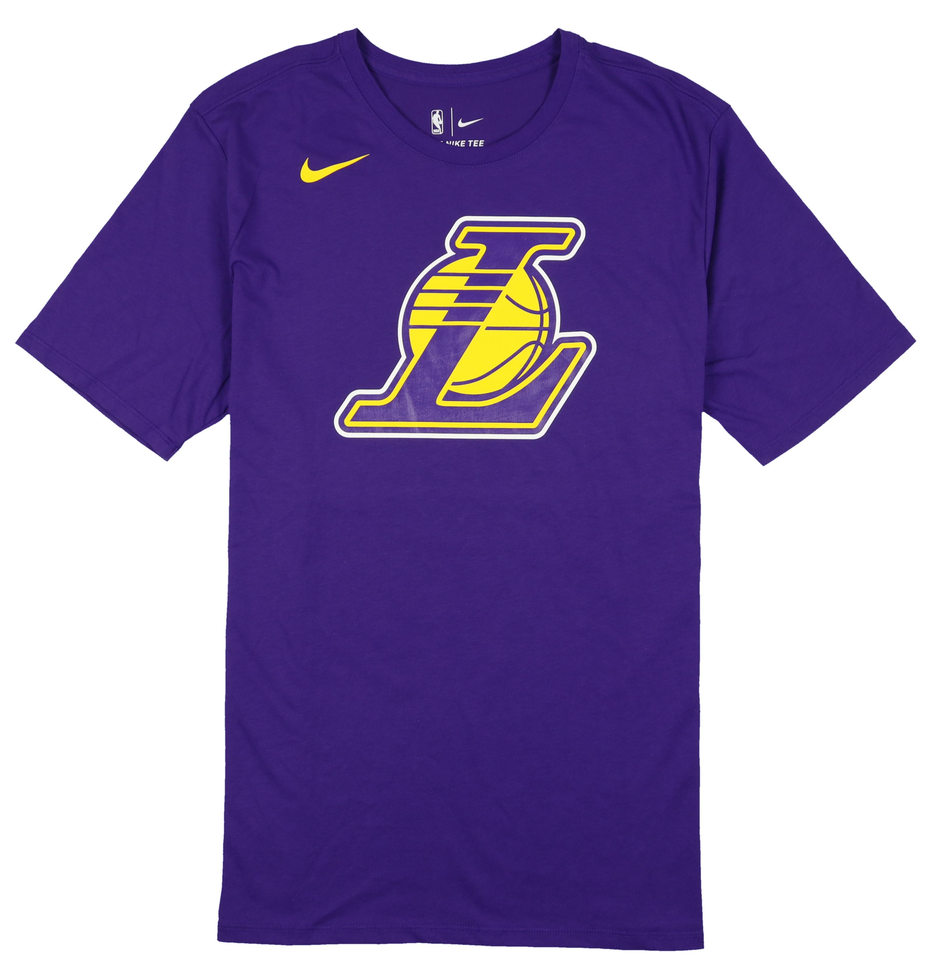 Nike Men's Los Angeles Lakers Team Logo T-Shirt Court Purple Yellow