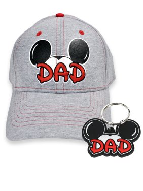6790050edee Product Image Men s Mickey Mouse Dad Hat   Key Chain 2Pc Gift Set