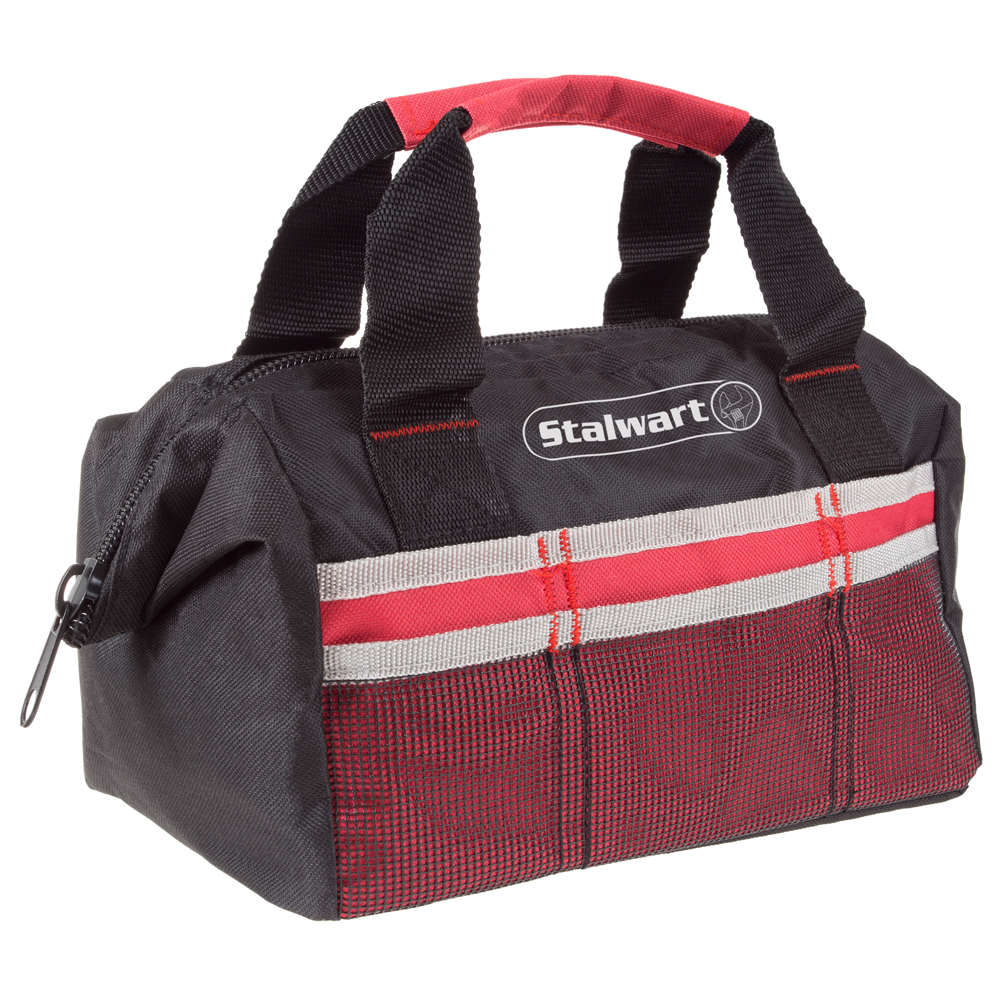 Soft Sided Tool Bag With Wide-Mouth Storage- Durable 12 Inch Compact Storage Pouch With Pockets for Tools and... by Trademark Global LLC