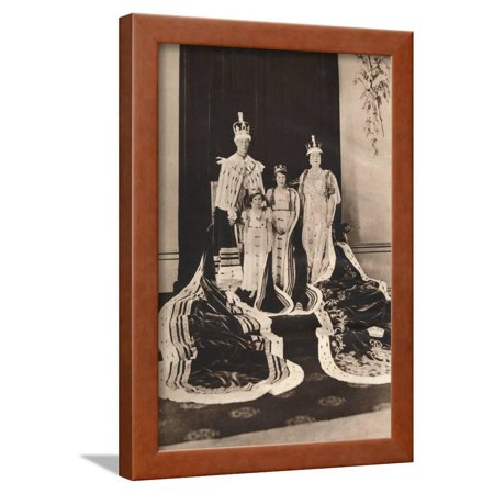 King George Vi and Queen Elizabeth on their Coronation Day, 1937 Framed Print Wall