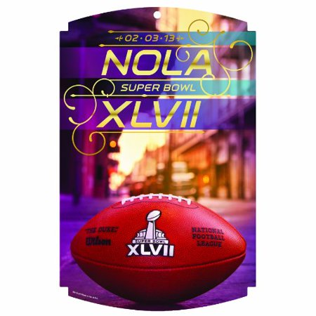 NFL Super Bowl Generic 11-By-17-Inch Traditional Look Wood Sign ()