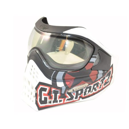 V-FORCE Grill Paintball Mask / Goggle - SPECIAL EDITION - GI LOGO on WHITE
