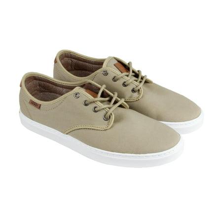 Vans Ludlow + Mens Tan Canvas Lace Up Sneakers Shoes ()