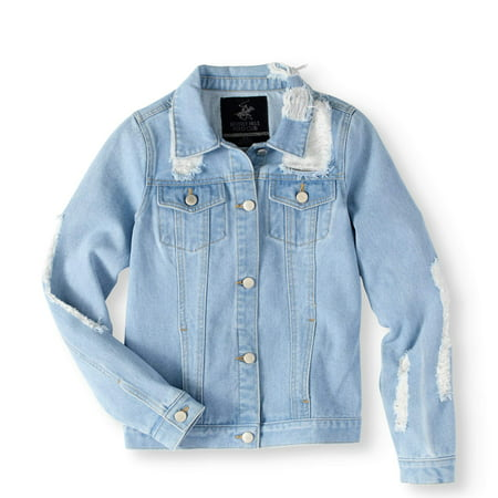 Distressed Denim Jacket (Big Girls)](Girls Jacket)
